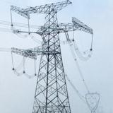 Torre de aço da transmissão do ângulo durável da alta qualidade