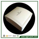 Caixa de jóias de couro branco decorativo de couro