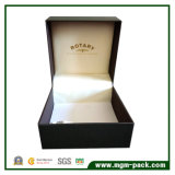 Einzelner Uhr-Papierkasten mit Kissen-Samt-Futter