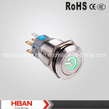 Hban RoHS CE (19mm) Punkt-Illuminated mit Power Anfang Symbol Pushbutton Switch