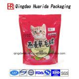 Plastiek die De Zakken van het Voedsel van de Kat van de Zakken van het Voedsel voor huisdieren opstaan