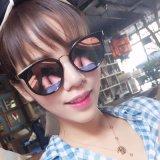 Новые продавая солнечные очки способа женщин конструктора пластичные с украшением металла (6811)