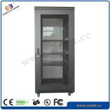 Gabinete de rede vertical com porta de vidro