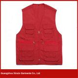 Guangzhou Factory Atacado Algodão de algodão barato estoque trabalhando colete sem mangas Jacket (W94)