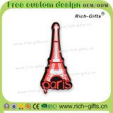 Torre Eiffel promozionale personalizzata del ricordo dei magneti del frigorifero del PVC della decorazione dei regali (RC-FR)