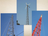 Torre de alta qualidade do aço do mastro do indivíduo da estrutura da telecomunicação de 80m