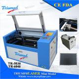 Der Fabrik-Preis bewegliches CO2 Laser-Tr6040 Minilaser-Gefäß laser-Gravierfräsmaschine-50W für Stich-ledernen hölzernen Glaskristallacrylsauerplastik