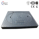 couverture de trou d'homme ronde de 800X800mm avec le bâti carré