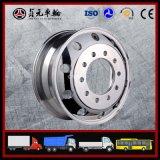 Il rimorchio/trattore/camion pesante, rotella forgiata della lega di alluminio borda il pneumatico della gomma