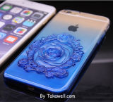 Hot Selling TPU 3D Rose Gradient Blue Cell Phone Case Cover para iPhone 6s / 6s Plus iPhone7 / 7 Plus