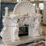Camino bianco Mfp-198 di Carrara del camino di pietra di marmo del granito