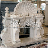 Camino bianco superiore di Carrara per la decorazione domestica Mfp-198