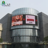 P10s an der Wand befestigte hohe Helligkeit, die elektronische bekanntmachende RGB-LED-Bildschirmanzeige aufbaut