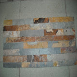 Pietra decorativa esterna della parete della pietra culturale arrugginita naturale dell'ardesia