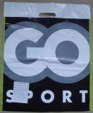 Gestempelschnittene gedruckte Plastiktaschen für das Einkaufen (FLD-8596)