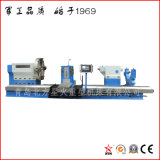 Alto torno horizontal estable del CNC para trabajar a máquina 3000 milímetros de rodillo de acero (CK61200)