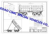 Cimcよい価格の標準的な30ton 27cbmのダンプカーのトレーラー