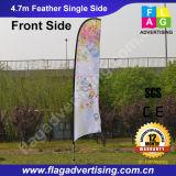 Fibra de vidrio poste que hace publicidad del indicador de la pluma de la bandera del vuelo