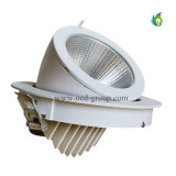 50W ajustable Gimble LED Downlight con el Temp. blanco fresco blanco puro blanco caliente del color
