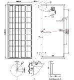 18V 140W Module solaire monocristallin de panneau solaire de 145W avec Ce approuvé
