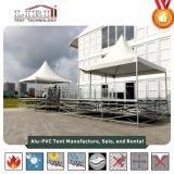 調節可能な床の白いPVC最も高いピークの塔のテント