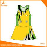 Изготовленный на заказ дешевое платье юбок Netball Bodysuits сублимации