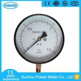 manomètre en acier noir d'indicateur de pression de qualité de cas de 150mm