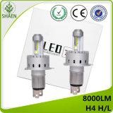 유럽 최신 판매 자동 LED 헤드라이트 H4 H/L 8000lm