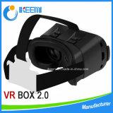 Carton en plastique de Google d'aimant en verre du virtual reality 3D de Vr de version de support principal pour 3.5-6 pouces + le contrôleur de Bluetooth