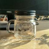 Choc transparent arrondi en verre de maçon de bouteille en verre