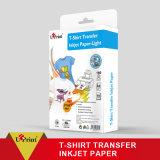 Obscuridad ligera/oscura del papel de traspaso térmico de la camiseta de la inyección de tinta/laser A4/A3