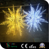 屋外のクリスマスの通りの装飾3Dの星のモチーフライト