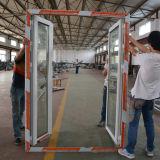 Puerta doble de aluminio revestida Kz039 del marco del marco del polvo blanco del color