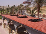 Легко установите плитку крыши Bamboo типа составную
