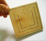 El laser del rectángulo de la balsa/de la chapa/del cartón muere la cortadora de la tarjeta (HLD1224)
