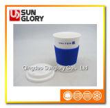 Caneca relativa à promoção da porcelana com caixa do silicone e tampa de Lkb025