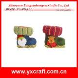 Fábrica del regalo del zapato del caramelo de Santa de la decoración de la Navidad (ZY11S256-1-2)