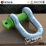 녹색 Pin 탄소 강철 위조된 활 수갑