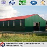 Entrepôt léger de structure métallique avec la tôle d'acier