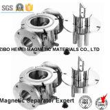 Séparateur magnétique permanent de canalisation liquide de la série Rcyj250/125 pour la colle, charbon, réfractaire, céramique, matériau de construction, glace, nourriture