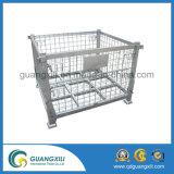 倉庫の記憶のためのスタック可能および折る鋼鉄頑丈な金網ボックス