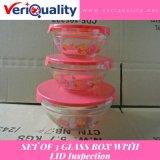 Conjunto del rectángulo de 3 vidrios con servicio del examen del control de calidad de la tapa