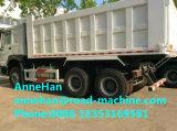 Carro de vaciado resistente del mecanismo impulsor del camión de descargador de HOWO 6X4 con la parte inferior de elevación de Hyva