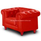 Sofá de couro clássico moderno de Chesterfield