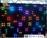 Занавес RGB пожаробезопасного занавеса зрения бархата P18 СИД видео- для выставки этапа клуба диско будочки DJ