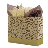 Blue Blue Color-on-Kraft Shoppers et Custom Logo imprimé Kraft Paper Shopping Bags