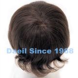 Parties de cheveux humains d'échine pour les hommes