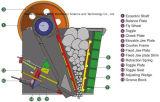 Trituradora de quijada de la roca del PE 500*750 para la venta