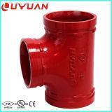 Ajustage de précision de pipe malléable de fer d'ASTM a-536 et té égal cannelé