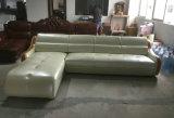 Sofà moderno di colore bianco, sofà di cuoio del salone (C22)
